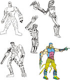 Cyborgs and Robots Set