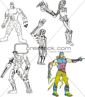 Cyborgs and Robots Set