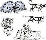 Wild Predator Cats Set