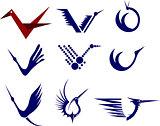Icon Set of Cranes