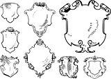 Set of Retro Heraldic Shields
