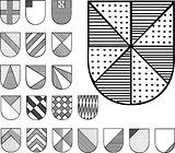 Set of Heraldic Shields