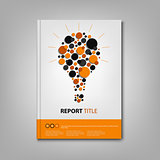 Brochures book or flyer with abstract bulb template