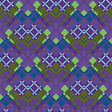 Violet-green plaid fabric