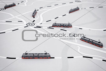 3D rendering of transport map