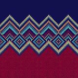 Seamless Pattern. Knit Woolen Ornament Texture