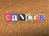 Cancer Pinned Paper Concept Illustration