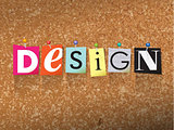 Design Pinned Paper Concept Illustration