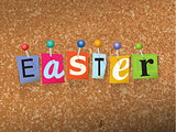Easter Pinned Paper Concept Illustration