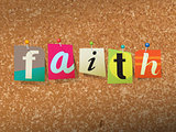 Faith Pinned Paper Concept Illustration