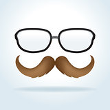 Man's Glasses and Mustache Illustration