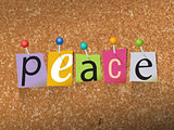 Peace Pinned Paper Concept Illustration