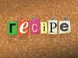 Recipe Pinned Paper Concept Illustration