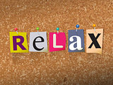 Relax Pinned Paper Concept Illustration