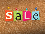 Sale Pinned Paper Concept Illustration