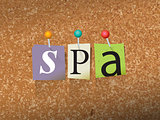 Spa Pinned Paper Concept Illustration