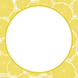 Lemon and Lime Patterned blank Frame  for text