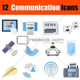 Flat design communication icon set