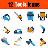 Flat design tools icon set