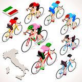 Cyclist 2016 Giro Italia Isometric People