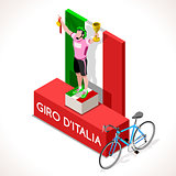 Cyclist Giro Italia Winner Isometric Cyclist People