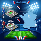 France stadium Paris Parc de Prince and Stade de Nice