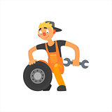 Profession Car Mechanic Vector Illustration