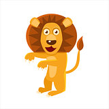 Humanized Lion Standing
