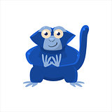 Blue Monkey Sitting