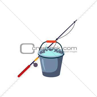 Fishing Rod And Bucket