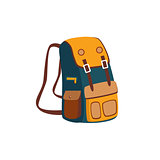 Backpack With Yellow Pockets