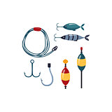 Fishing line, Sopinner And Hooks