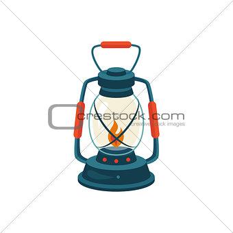 Cerosene Glass Lamp