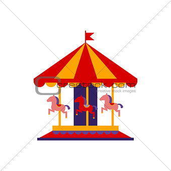 Classic Carousel With Horses