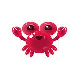 Pink Balloon Crab Character