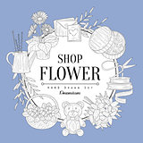 Flower Shop Vintage Sketch