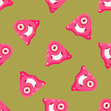 One-Eyed Alien Seamless Pattern
