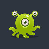 Green Octopus Alien