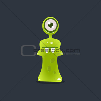 Green One-eyed Alien