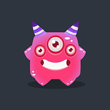 Pink Alien With Horns