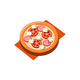 Tomato Sausage Pizza