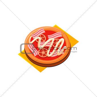 Bacon Tomato Pizza