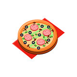 Mushroom Salami Pizza