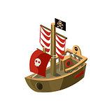 Pirte Boat Toy Icon