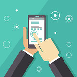 Business Smartphone Applications Illustration