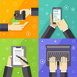 Business Workflow Illustrations Set