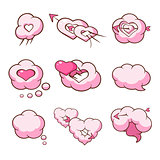Heart Shaped Cloud Set