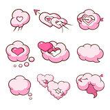 Heart Shaped Cloud Set