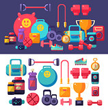 Gym Objects Set