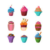 Decorated Cupcakes Sticker Collection